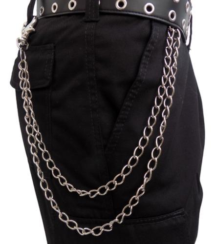 Cadena Doble Para Pantalón Eslabón Grande 1,2cm Llavero Rock
