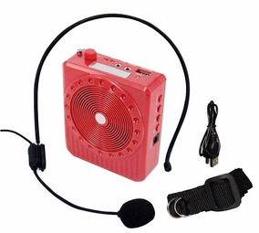 Amplificador De Voz Portátil Megaphone Kit Professor Vermel