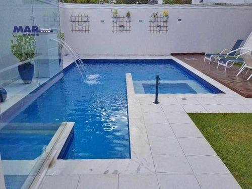 Casa Com 5 Dormitórios À Venda, 430 M² Por R$ 3.400.000,00 - Acapulco - Guarujá/sp - Ca0639