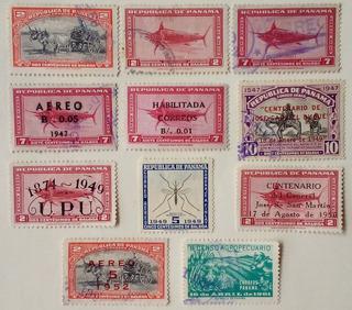 Estampillas De Panamá. Series Variadas. Desde 1942 A 1961.