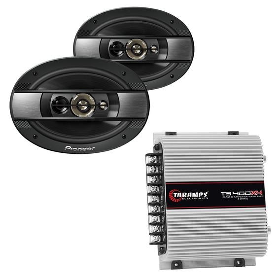 Auto Falantes Pioneer 6x9 6990 + Módulo Potência Taramps 400