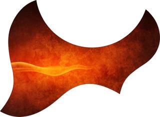 Escudo Palheteira Resinada Violão Aço Jumbo Sônica Flame