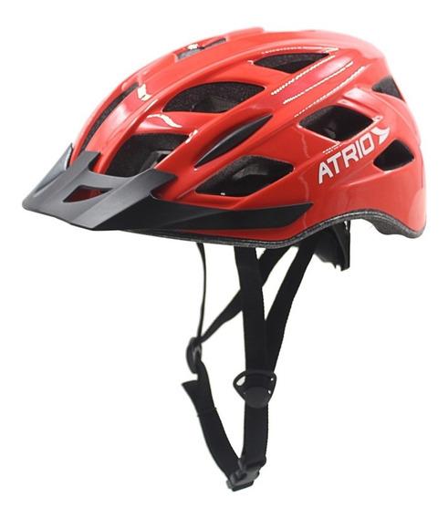 Capacete G Vermelho Led 2 Para Ciclismo Bi108 Átrio