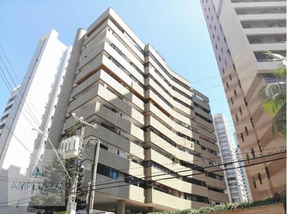Apartamento Com 3 Dormitórios Para Alugar, 165 M² Por R$ 2.400,00/mês - Meireles - Fortaleza/ce - Ap0776