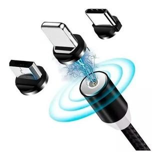 Cabo Carregador Magnético + 3 Plug (tipo C Micro Usb iPhone)
