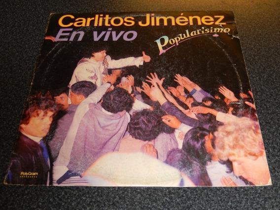 Carlitos Mona Jimenez En Vivo Popularisimo Vinilo 1988 Okm !