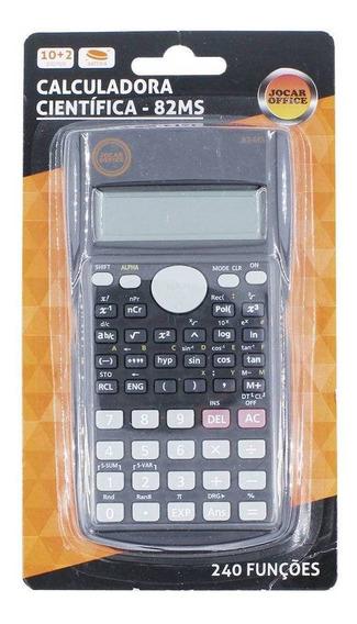 Calculadora Cientifica Jocar Office 82ms 240 Funções Cinza