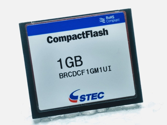 Cartão Compactflash Cf 1gb Stec Rosh & Silicon