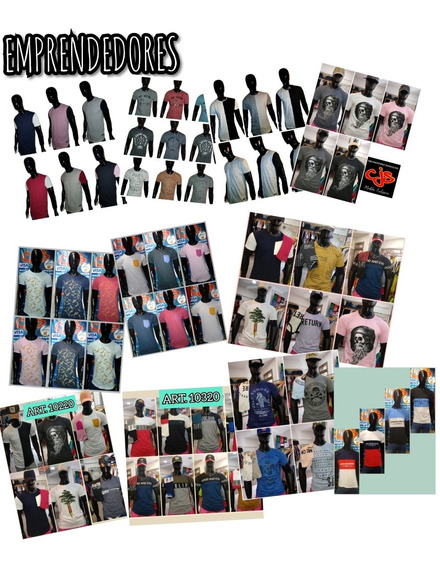 Pack 24 Remeras De Moda Para Hombre Surtidas. Mayorista