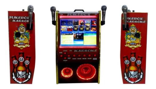 Maquina De Musica Jukebox Karaokê 17 Pol Am Fm Usb Bluetooth