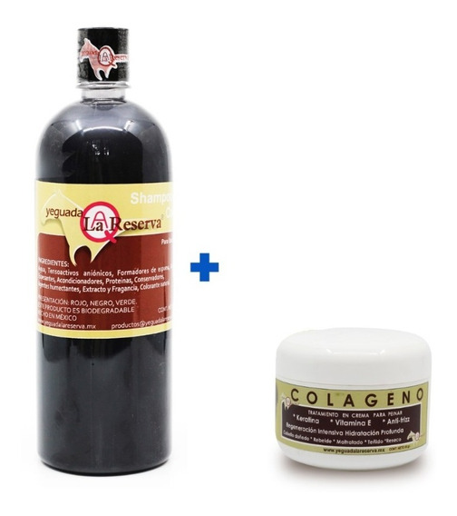 Kit Completo Yeguada La Reserva Shampoo 100% Original + Colageno Chico Yeguada