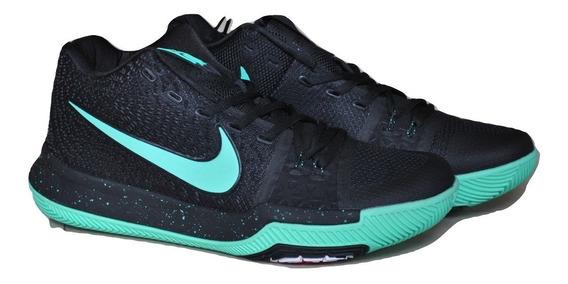 Kp3 Botas Caballeros Nike Kyrie Irving 3 Negro Verde Agua