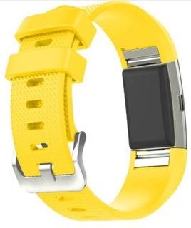 Pulseira Fitbit Charge 2 Avulsa G Amarelo Top Frete Grátis