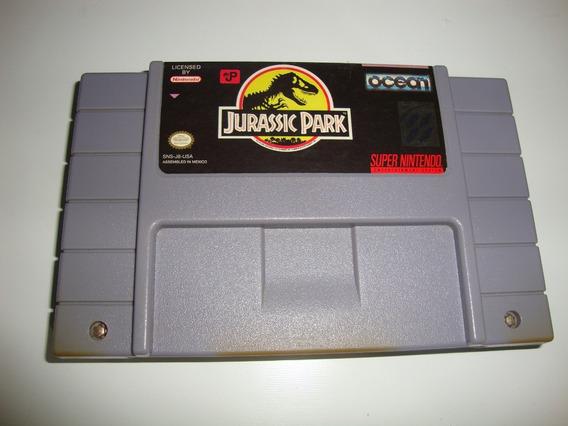 Jurassic Park Americano Original Para Super Nintendo