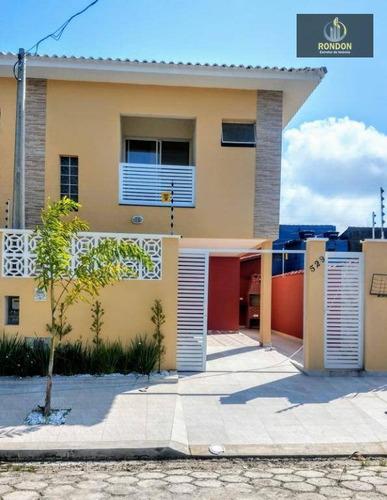 Sobrado Com 2 Dormitórios À Venda, 68 M² Por R$ 220.000 - Jardim Jamaica - Itanhaém/sp - So0028