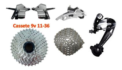 Imagem 1 de 6 de Kit Grupo Transmissão Gta 9v / 27v Bike Tipo Shimano Vfire
