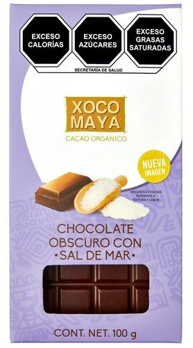 Imagen 1 de 7 de Barra De Chocolate Oscuro Con Sal De Mar Xoco Maya