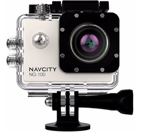 Câmera Esportiva Navcity Prata 12mp Filmagem Full Hd 30m À P