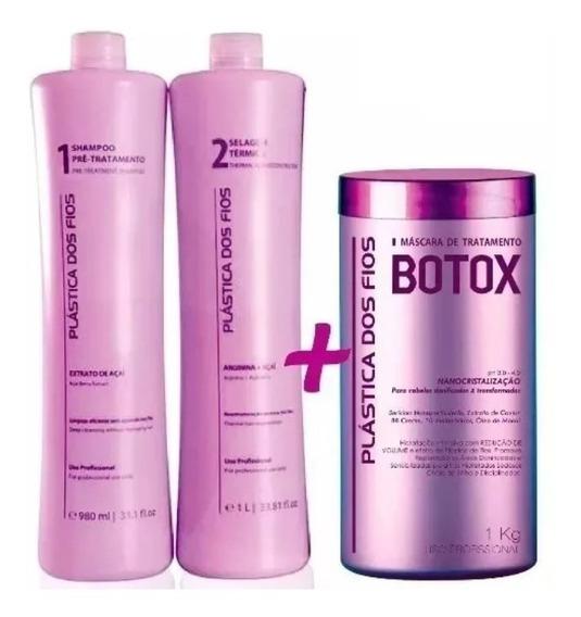 Combo Plástica Dos Fios Selagem Progressiva + Botox