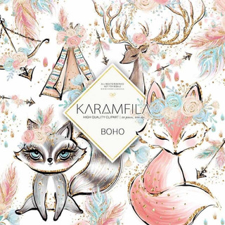 Kit Papel Digital Raposinha Fox - Karamfila