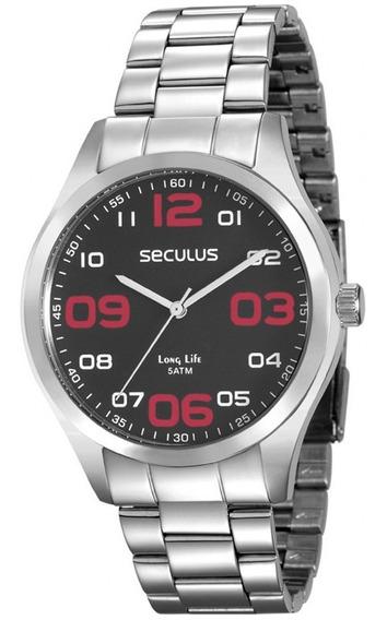 Relógio Masculino Seculus 28857g0svna1 C/ Garantia E Nf