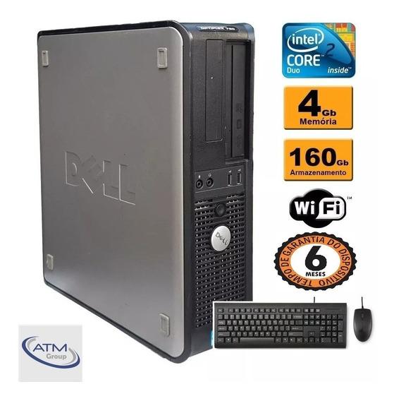 Desktop Dell Optiplex 780 Core 2 Duo 160gb / 4gb + Wifi