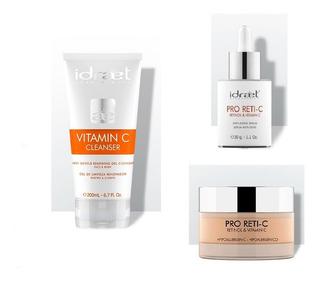 Idraet Kit Vitamina C Cleanser + Pro Reti C Serum + Crema