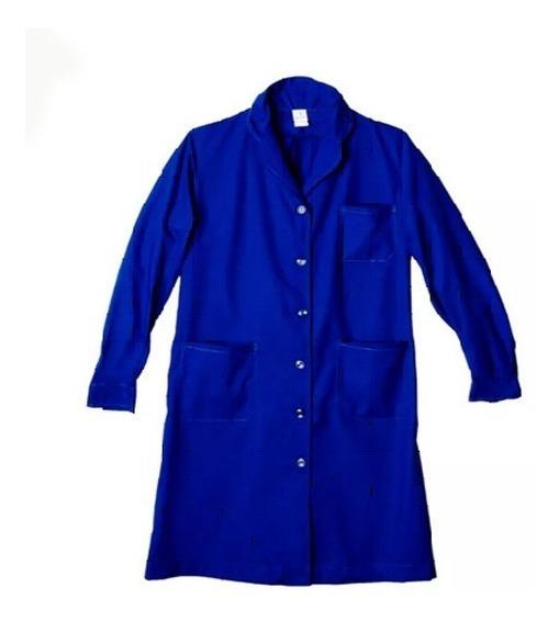 Guardapolvo Administrativo Blanco - Azul Calidad