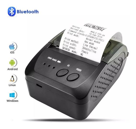Mini Impressora Portátil Bluetooth Térmica 58mm Android Ios