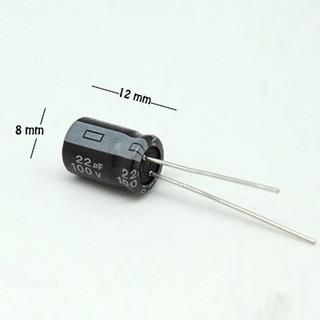 Condensador Electrolítico 105 C, Ce-22/100v-teapo (p/60pz)