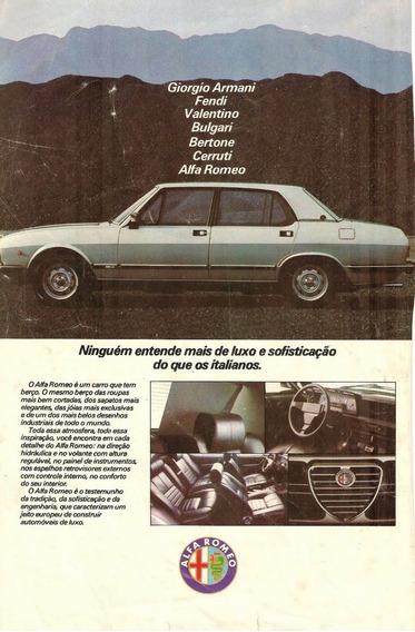 Vasto Material Publicitário E Testes Dos Alfa Romeo 145 164