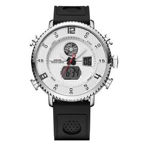 Relógio Masculino Weide Wh-6101 Anadigi Branco Com Nf