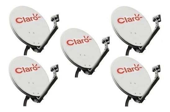 2 Antena Ku 60cm Logo Claro 2 Cabo 17mts Rg59 2 Lnb Simples