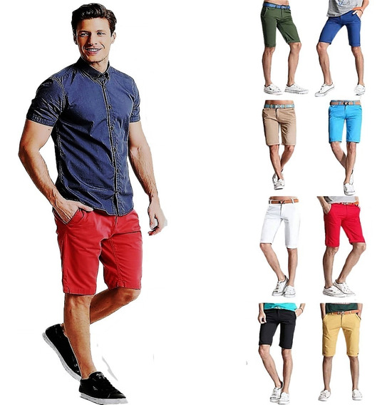 Bermudas Caballeros Strech Slim Fit By Plutonio