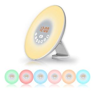 Radio Reloj Despertador Alarma Luz Led Snooze Varios Colores