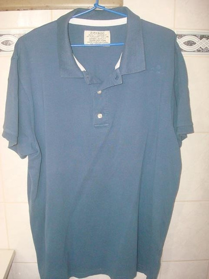 Camiseta Polo Zara Basic - Tam. G 44.