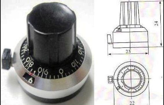 Dial Para Potenciômetro Multivolta 22mm 10v 3590s 534 357