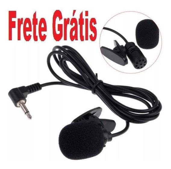 Frete Grátis Mini Microfone Lapela Plug P2 Stéreo C/ Grampo