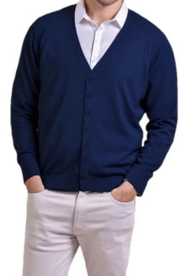 Sweater Cardigan Liso Hombre Olegario