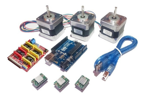 Imagen 1 de 1 de Kit Cnc Nema 17 Arduino Uno R3, Pololu A4988 Motor A Pasos