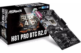 Mineracao Ethereum Asrock H81 Pro Btc R2.0 Placa Mae Mb 1150
