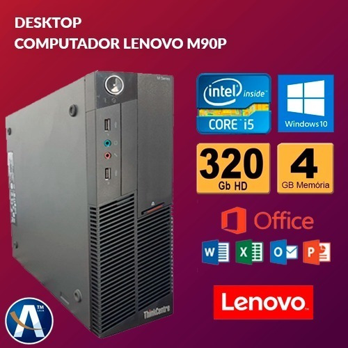 Desktop Computador Lenovo M90p Core I5 - 4gb Ram Hd 320gb