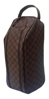 Bolsa Elegante Porta Chuteiras Luxo Courvin Marrom