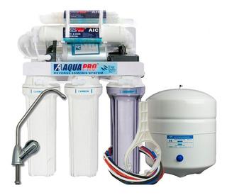Filtro De Osmosis Inversa Aquapro 6 Etapas Con Bomba 75 Gpd