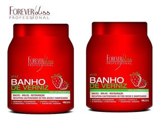 Máscaras Banho De Verniz Morango Forever Liss 1kg