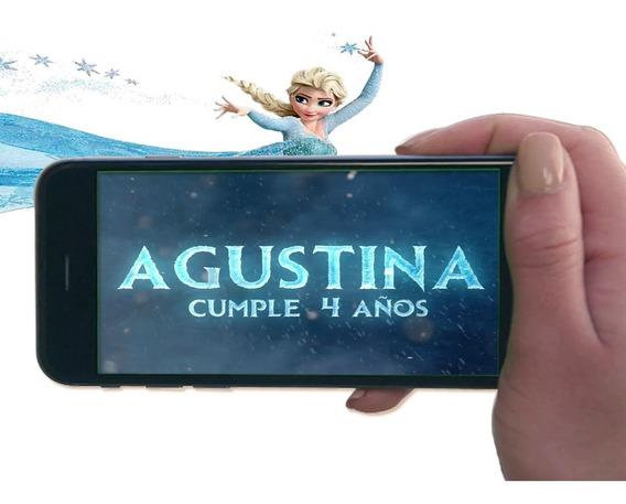 Tarjeta Video Invitacion Cumpleaños-frozen