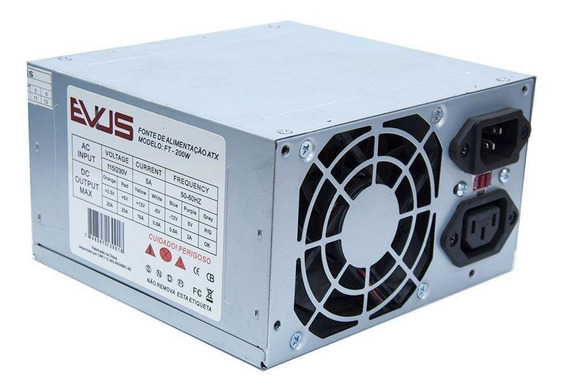 Fonte Evus Ft-200w 200w Real 20/ 24p 2 Sata Seminova