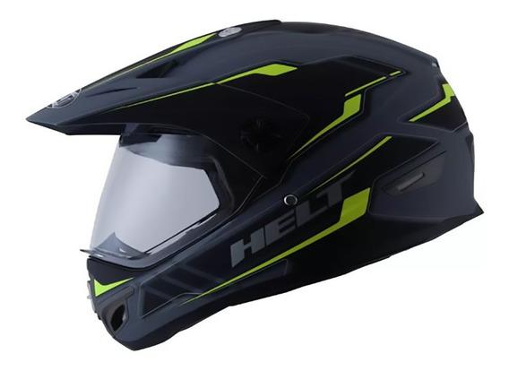 Capacete Helt Cross Vision Triller Green Fosco Original Moto