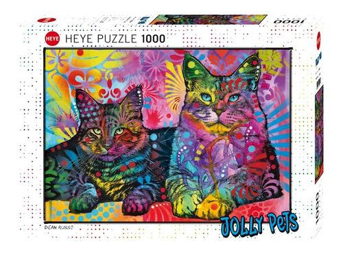 Rompecabezas De 1000 Piezas  Dean Russo Jolly Pets / 2 Gatos