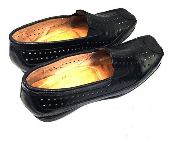 Zapato De Cuero Cómodo Para Dama Modelo 1341 / B